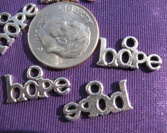 Hope Charm Tibetan Silver Jewelry Supply 5 pieces