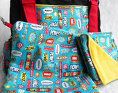 CUSTOM Diaper Bag Set- Upsized Expedient Diaper Bag w/ Changing Pad and Wetbag