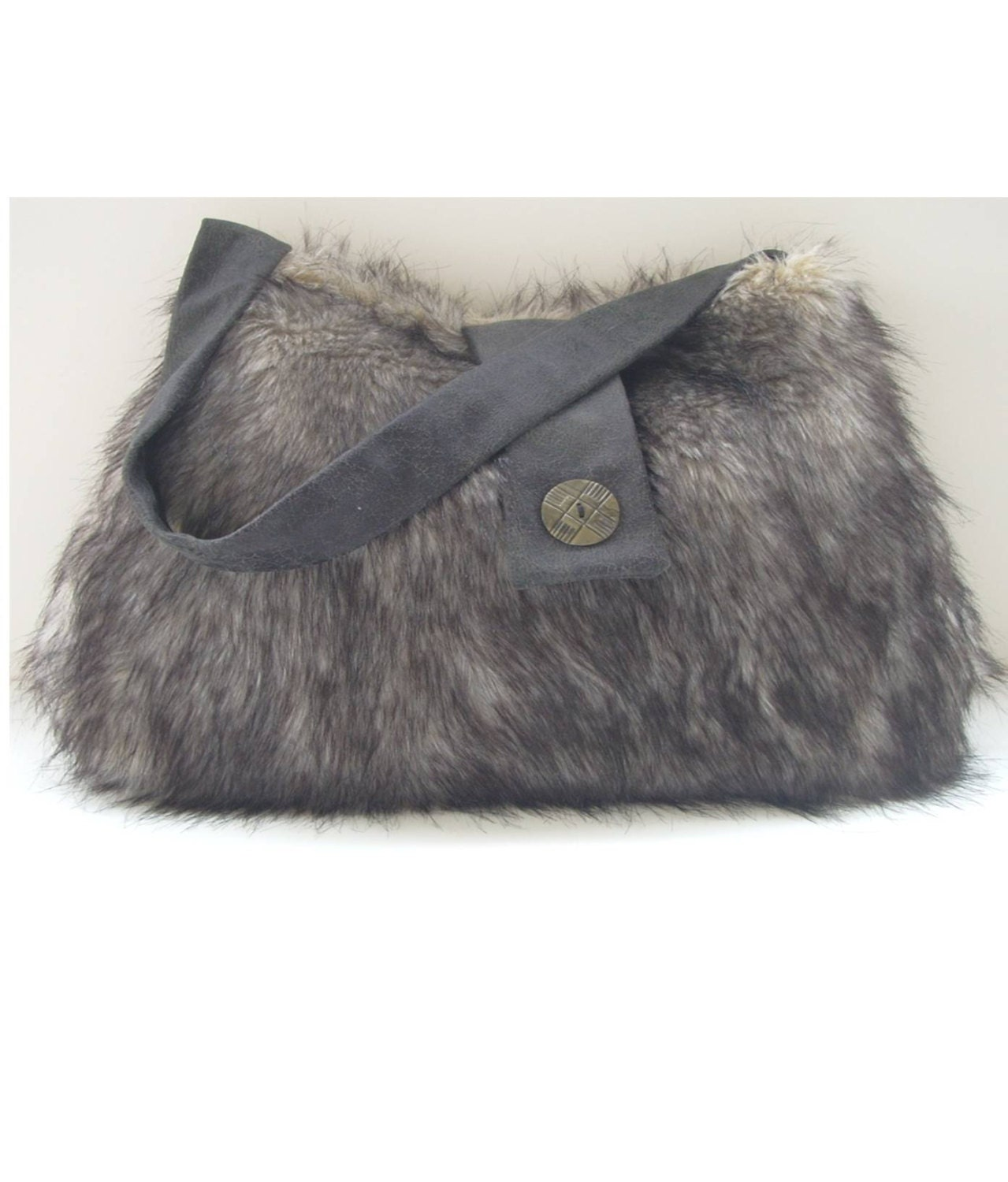 Fur messenger bag faux fur hobo bag crossbody bag by for Furry craft