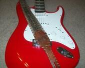 Monogrammed  Rattlesnake Guitar Strap