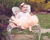 Baby Girls Birthday Tutu Dress Outfit, Christmas Gifts, Peach Sugar Fairy Tutu Costume