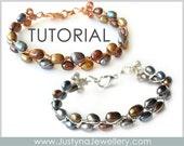 Wire Bracelet Tutorial, Beading Jewelry Tutorial, Beading Bracelet Tutorial, Wire Bangle  Pattern, Wirewrapping Tutorial, Wire Jewelry PDF