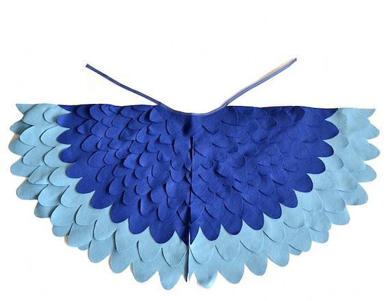 Niños pájaro traje de alas niños azul guacamayo por BHBKidstyle