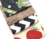 DESTASH - Black Brown  Fabric Remnant bundle