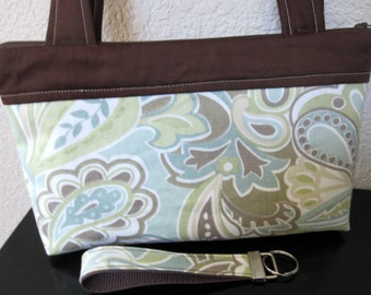 SALE - Pastel Garden Zipper Bag, Nook, KIndle, Mini-Ipad Cover, Case including Matching Key Fob