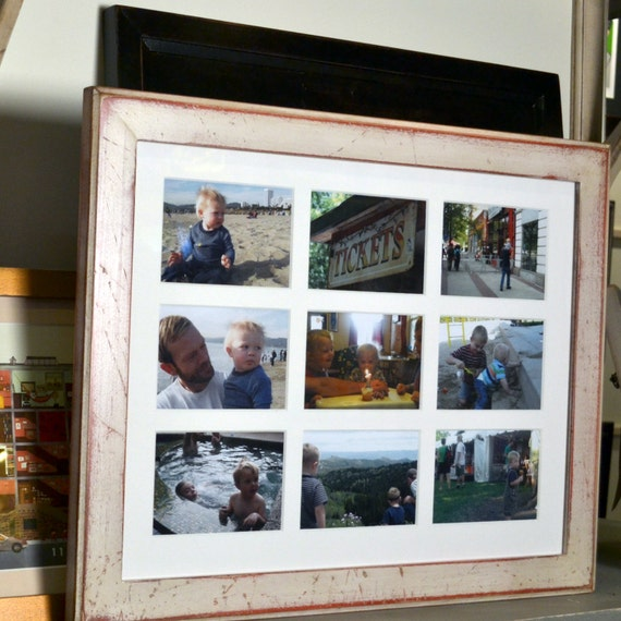 14 5x19 Inch Picture Frame With Mat Window Openings For 9