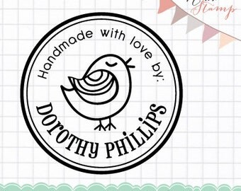 Bird Personalized Pre-inked Stamp (Self Inking Stamp) Address Stamp, Business Stamp, Custom Rubber Address Stamp (P20153)