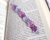 Lilac , Grape Bookmark in Tatting Lace - Eva