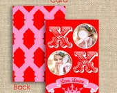Personalized Valentine's Day Card For Kids - Add Your Photo - PRINTABLE - By A Blissful Nest
