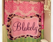 Personalized Shower Curtain - Funky Damask