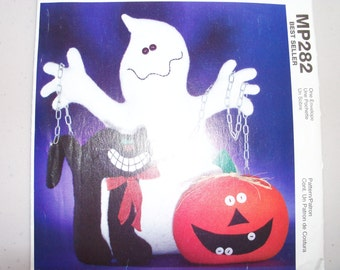 SALE McCalls Crafts MP282 Halloween Ghost Cat and Pumpkin Sewing Pattern