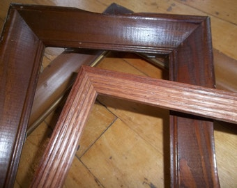 Sale - Three Wood Frames -Original Finish - Various Sizes - Ready for a new look