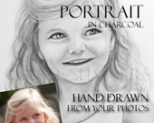 Grandparent Gift - Custom Grandchild Portrait Drawn from Photos