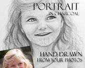 Grandparent Gift - Custom Grandchild Portrait Drawn from Photos