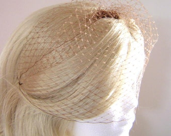 """MOCHA Bridal 9"""" Birdcage Veil French Russian Netting Wedding Several Colors available"""