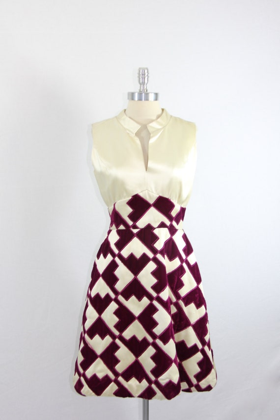 On Hold.....1960s Vintage Dress - Designer Bellciano Mid Century Mod Geometric Mini Dress