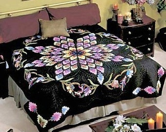 California Nites Lockwood Applique King Quilt Pattern