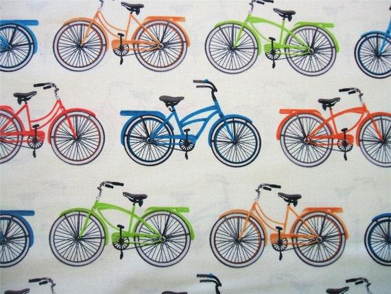 Bicycle Bike Everyday Favorites Retro Robert Kaufman Fabric