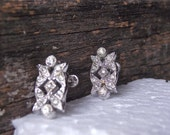 Brides Earrings Something Old Wedding Day Sparkle