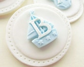 Baby Boy Cupcake Toppers - Baby Shower Cupcakes Cookie Toppers Shower Favors