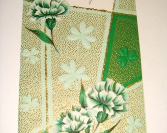 St Patrick's Day Greeting Card - UNUSED 1940's