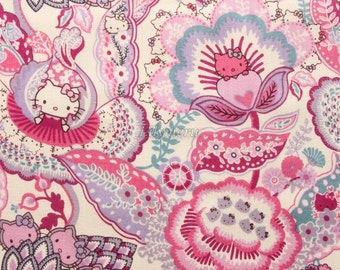 Liberty tana lawn printed in Japan - Tree of Life Garden  - Purple mix