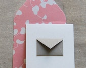 Tiny Envelope Enclosure Cards - Rose Vine