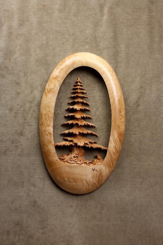 Wedding Gift Log : Wood Tree Carving Wedding Gift, Log Cabin Wall Art Mothers Day Gift ...