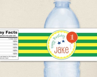 Goodnight Moon Party - 100% waterproof personalized water bottle labels