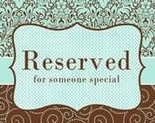Reserved Listing for Melissa Hoye