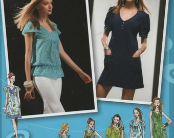 Mini Dress Simplicity 2942 Sewing Pattern Tunic Top