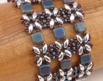 Instructions for Lattice Gates Beadwoven Bracelet     Beading Tutorial