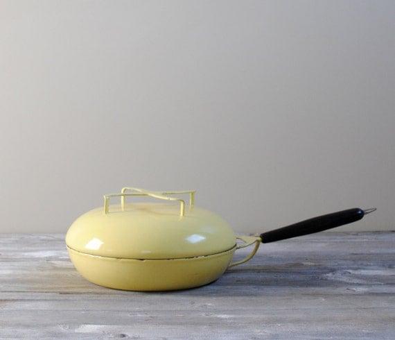 Vintage Italian Enamel Cooking Pan