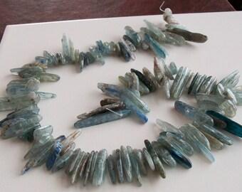 "16"" Strand Kyanite Smooth Crystals Sticks"