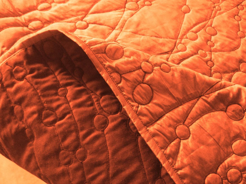 Tagesdecke gelb orange baumwolle kieselsteine könig von tatvakala