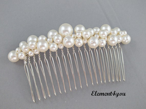 Bridal hair piece comb-5238
