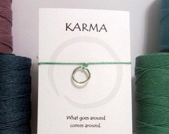 "Basic Karma Bracelet ""What goes around comes around"""
