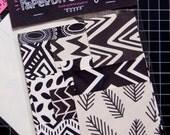Paper Bit Collage Kit: Black & White