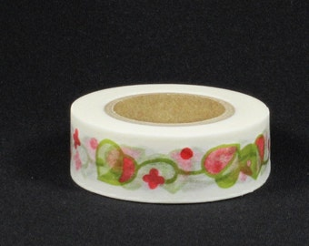 Japanese Washi Masking Tapes / Traditional Japanese Design-Ivy Hearts