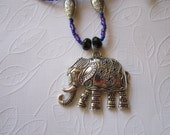STRONG ELEPHANT PENDANT Necklace 31 inches Sale 10 percent off