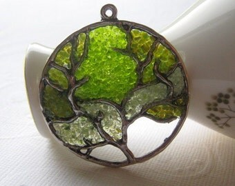 Green Tree Necklace, Tree of Life, Tree of Life Jewelry, Fall Tree Necklace, Green Tree Jewelry