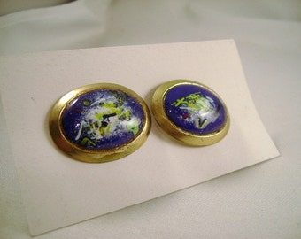 Cuff Links Vintage Blue abstract color