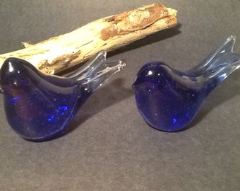 Lovely set of Two Glass Birds