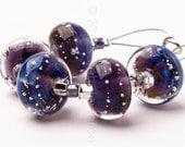Royal Purple Sparkle 5 - Handmade Lampwork Glass Beads by Sarah Downton