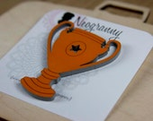 You Win...  Trophy Cup Brooch