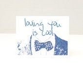 Funny Card, Bowties are cool, 11th doctor, Tardis, Loving you is cool, Boyfriend, Dad, Science fiction, geekry