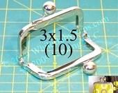 17% OFF 10 Nickel-free 3x1.5 metal purse frame