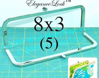 20% OFF 5 nickel-free 8x3 purse frame with EleganceLock(TM) closure