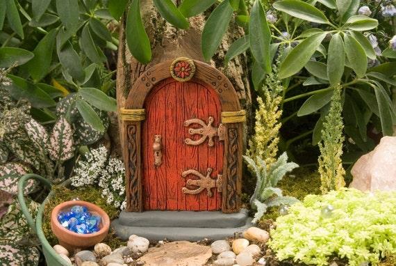 Red fairy door for Red elf door