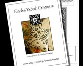 Garden Rabbit Ornament Cross Stitch PDF Pattern